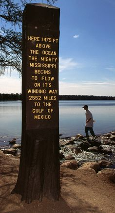 Take a walk across the rocks at the mouth of the Mississippi - Itasca State Park