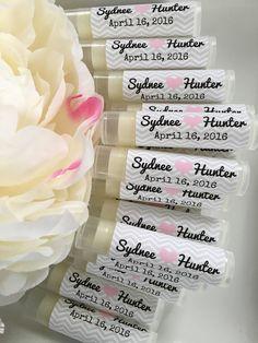 100 Personalized Lip Balms. Wedding Favors. Guest by SensiblyPosh