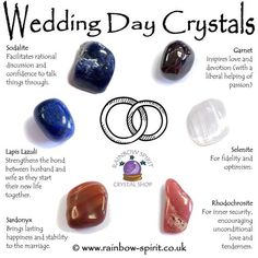 Wedding Day Crystal Set - The crystals in this set have been carefully selected to complement each other and for their proper - Crystal Shop, Crystal Magic, Crystal Grid, Crystal Uses, Crystal Jewelry, Silver Jewelry, Crystals And Gemstones, Stones And Crystals, Crystal Healing Stones