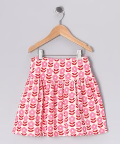 Pink & Red Danish Flowers Organic Skirt  from Winter Water Factory on #zulily! #Fall Essentials