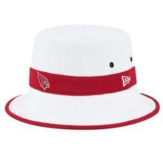 buy online e2c67 7b90a Men s New Era White Arizona Cardinals On Field Training Camp Bucket Hat