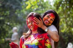 Hot girl in Holi