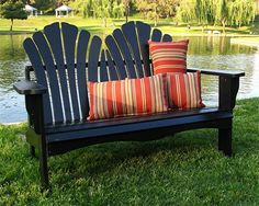 Sanibel Adirondack Black Loveseat