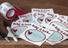 Cute Valentine's scratch offs for the hubby