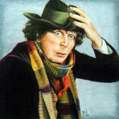 """Art Print 8""""x8"""", Doctor Who Fourth colored pencil scarf - pinned by pin4etsy.com"""