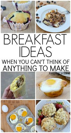 25+ Breakfast Ideas! Do you need a little motivation for breakfast? Here are some great breakfast ideas that are delicious when you're in a rut! #Breakfast #Breakfastrecipes #Breakfastideas