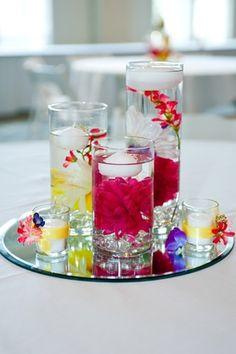 Floating candle in water. Simple and inexpensive party idea.  Beautiful idea. Incensewoman