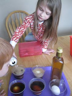Awesome dental health lesson using hard boiled eggs, soda, coffee.  Soak, observe, brush with toothbrush and paste.