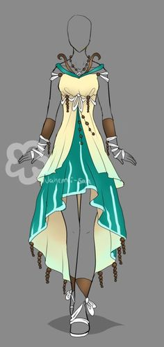 Dress Design - sold by Nahemii-san.deviantart.com on @deviantART: