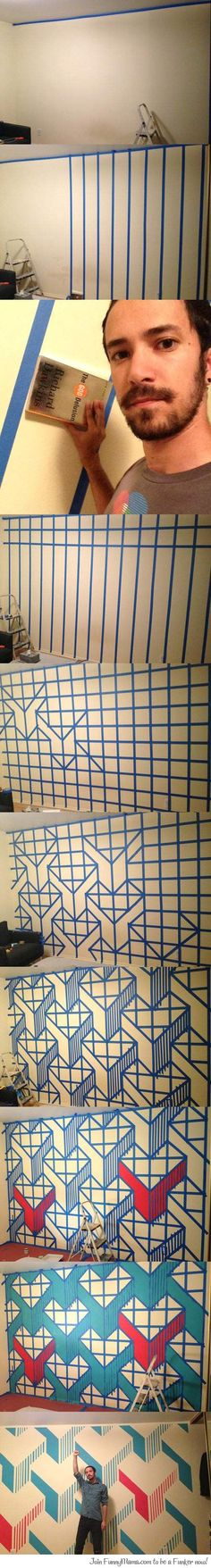 Awesome wall design...Too much time on his hands i think!!