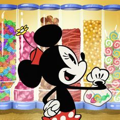Making a stop at my favorite sweet spot! Mickey Mouse Shorts, New Mickey Mouse, Mickey Mouse And Friends, National Candy Day, Disney Phone Wallpaper, Mikey, Daisy Duck, Sweetest Day, Disney Cartoons