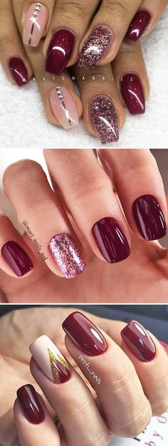 Choosing between countless burgundy nails ideas is a tough job. But, hey, you have all the time in the world ahead, right? Dive in! Nägel Ideen tauchen ein 45 Newest Burgundy Nails Designs You Should Definitely Try In 2020 Burgundy Nail Designs, Burgundy Nails, Gel Nail Designs, Nails Design, Ombre Burgundy, Latest Nail Designs, Fingernail Designs, Sns Nails Colors, Fun Nails