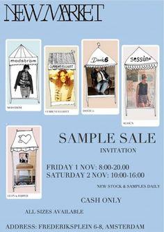 New Market Sample Sale -- Amsterdam -- 01/11-02/11