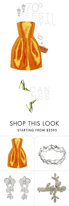 """""""gold"""" by nandusho ❤ liked on Polyvore featuring Zac Posen, Tiffany & Co., Cartier and Cathy Waterman"""