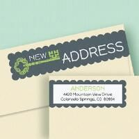 New Pad Connect Wrap Around Diecut Address Labels                          - Current Catalog