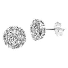 14k White Gold Diamond Cluster Earrings Studs (0.50 Carat) ATR Jewelry http://www.amazon.com/dp/B0030NWZ3Y/ref=cm_sw_r_pi_dp_fz2Ztb0A1FX59H7J