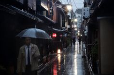 Christophe Jacrot, also known as Rain Man, is a French photographer who takes awesome pictures of cities caught up in bad weather. He travels around the world, intentionally experiencing different … Creative Photography, Digital Photography, Christophe Jacrot, Travel Around The World, Around The Worlds, Rain Pictures, Japanese Streets, French Photographers, His Travel