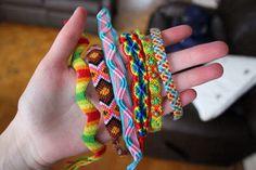 friendship bracelets. ♡