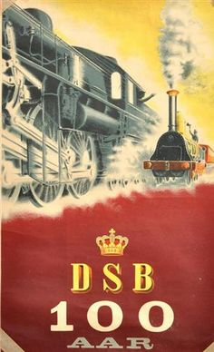 Danish State Railways (DSB). DSB 100 Years. Artist: Aage Rasmussen, 1947.