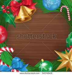 Christmas background for your design. Vector illustration of Christmas decorations can be used as a poster, banner, card and more.