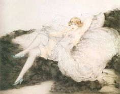 Louis Icart - Whith Underwear	(1925)