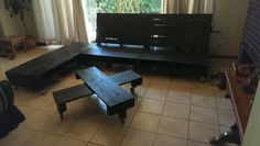 L-couch and table