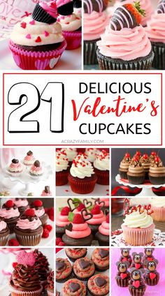 Valentines Day Food, Valentines Baking, Valentine Day Cupcakes, Valentines Recipes, Themed Cupcakes, Mini Cupcakes, Cupcake Recipes, Baking Recipes, Cupcake Ideas