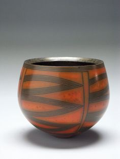 Untitled Bowl, c. Collection of Bill Burke Raku Pottery, Pottery Bowls, Pottery Art, Glass Ceramic, Ceramic Clay, Ceramic Bowls, Modern Ceramics, Contemporary Ceramics, Vases