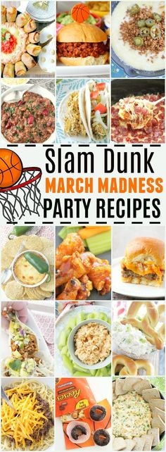 Slam Dunk March Madness Party Recipes Tailgating Recipes, Tailgate Food, New Recipes, Party Recipes, Delicious Recipes, Recipies, Tasty, Appetizer Recipes, Appetizers