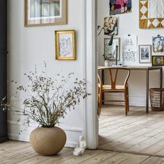 Founded in Denmark by Karen Maj Kornum, Another Ballroom was born out of a passion for aesthetics, people, cultures, art and interior desig. Distressed Picture Frames, Timber Flooring, Flooring Ideas, Oak Table, Scandinavian Interior, Scandinavian Style, Picture Design, White Walls, Interior Inspiration