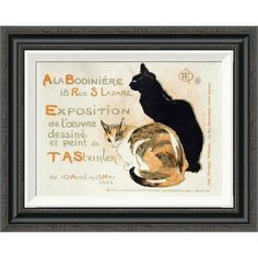 "Global Gallery 'A La Bodiniere' by Theophile Steinlen Framed Painting Print Size: 17.62"" H x 22"" W x 1.5"" D"