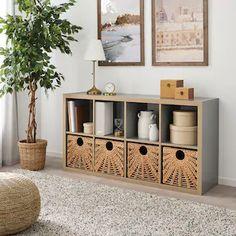 Nieuwe producten - IKEA Kallax 4x4, Ikea Kallax Hack, Cube Ikea, Ikea Cube Shelves, Ikea Cubes, Box Shelves, Ikea Basket, Wicker Baskets, Wall Basket