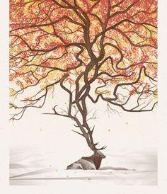 Elk Art Print by DKNG