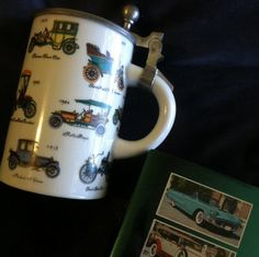 Antique Cars Beer Stein Ceramic Collectible by PamsPawsJewelry