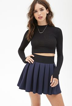 Pleated Scuba Knit Skirt | FOREVER21 - 2000100990