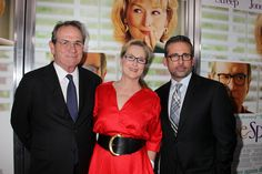 NEW YORK, NY - August 6, 2012: Tommy Lee Jones, Meryl Streep and Steve Carell at the Premiere for Columbia Pictures' HOPE SPRINGS at the School of Visual Arts Theatre.  © 2012 Columbia TriStar Marketing Group, Inc. All Rights Reserved.