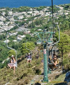 Catch the Seggiovia chairlift from Anacapri to Monte Solaro and enjoy magnificent views from the highest point on Capri. Sorrento Amalfi Coast, Sorrento Italy, Naples Italy, Positano, Naples Capri, Capri Italy, Around The World In 80 Days, Around The Worlds, Italy Travel
