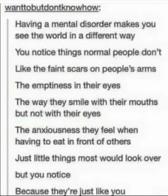 Bitch, this isn't a mental disorder, you're an INFJ. And they're not like you, because most sheeple notice nothing