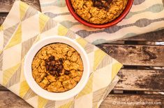 Baked oatmeal is one of my favorite ways to wake up on cold mornings and this peanut butter banana version doesn't disappoint for 265 calories and 5 PointsPlus