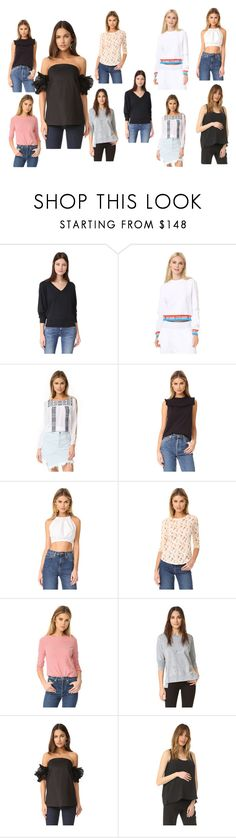 """tops collection sale"" by monica022 ❤ liked on Polyvore featuring rag & bone/JEAN, Opening Ceremony, OndadeMar, Rebecca Taylor, Joe's Jeans, ISLA_CO, Hatch and vintage"