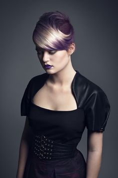 Hair: Hazel Newman Photography: Jo Bayliss Makeup: Alice and Leigh Model: Michelle Mason
