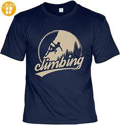Kletter T-Shirt Climbing Bergsteiger Shirt 4 Heroes Geburtstag Geschenk geil bedruckt (*Partner-Link)