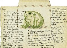 Carta de Frida a su sapo Diego