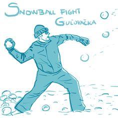 Snowball fight - by Livia Prudilova - Anglicky efektívne