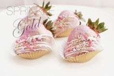 sprinkle it gold chocolate covered strawberries