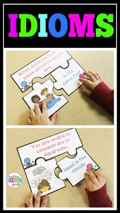 Idioms Puzzles - Use this 19 page resource to help your 1st, 2nd, or 3rd grade classroom and home school students better understand idioms. Children will need to put the puzzle together to match the idiom picture and saying. You get 17 different puzzles. These are great for ELA and grammar - particularly for literacy centers or stations. They also work for review, early or fast finishers, morning work, small groups, individual practice, and more. Get them now! {first, second, third graders}