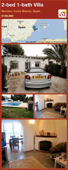 2-bed 1-bath Villa in Moraira, Costa Blanca, Spain ►€139,950 #PropertyForSaleInSpain
