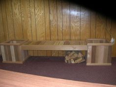 Cedar Planters and Bench