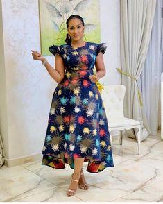 New Bazin Riche African Ruffles Collar Dresses for Women Dashiki Print Pearls Dresses Vestidos Women African Clothing - African Fashion Ankara, Latest African Fashion Dresses, African Print Fashion, Africa Fashion, Latest Fashion, Long African Dresses, African Print Dresses, African Dress Styles, African Clothes