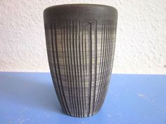 Heiner Hans Körting Germany studio art pottery vase with stripes 60s 70s WGP